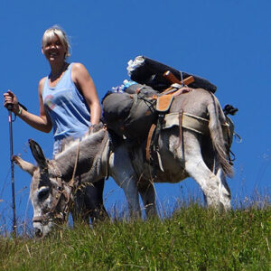 lady with donkey family adventure